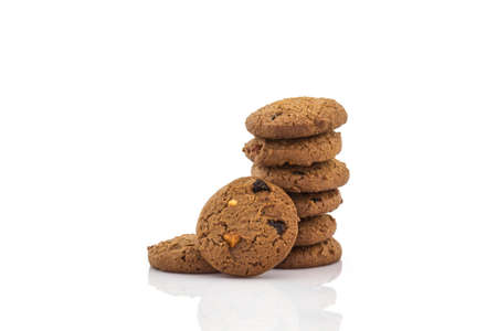 chocolate chips cookies: Chocolate chip cookies on white background.