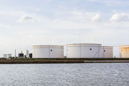 Oil tank or gas container in south of Thailand. photo