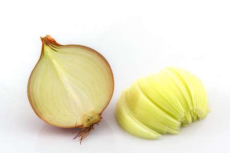 onion: Fresh onion bulbs on a white background.