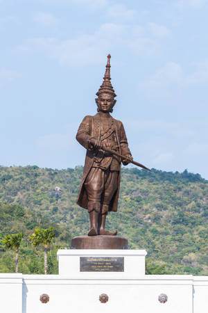 adulyadej: Hua Hin, Thailand - January 1, 2016: Ratchapak Park and the statues of seven former Thai kings were from loyalty constructed by the Royal Thai Army under royal permission from His Majesty King Bhumibol Adulyadej.