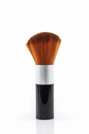 blusher: Makeup brush powder Blusher on white background.