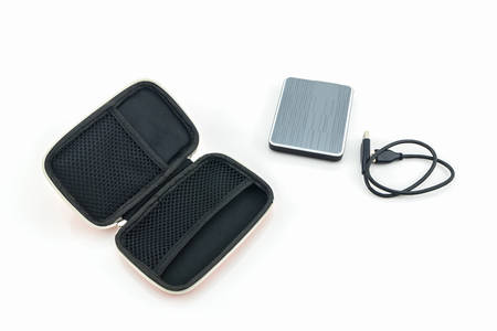 disco duro: External hard drive carrying case. Bags for external hard drive on a white background.