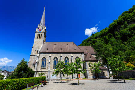 Vaduz Cathedral, or Cathedral of St. Florin in Vaduz, Liechtenstein.