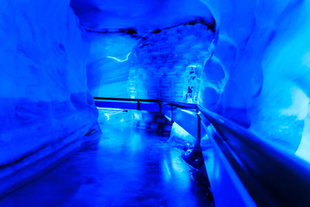 The glacier cave in Mt. Titlis area, Engelberg, Switzerland.