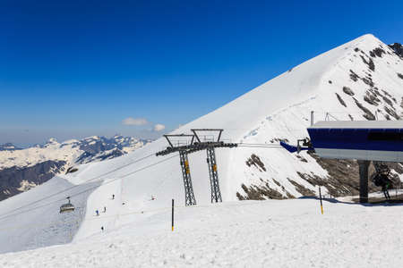 View from Mt. Titlis in Switzerland. The Titlis is a mountainis of the Uri Alps Engelberg, Switzerland.