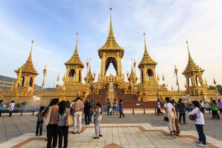 Bangkok, Thailand - November 12, 2017 :The royal crematorium of His Majesty late King Bhumibol Adulyadej built for the royal funeral at Sanam Luang.