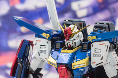 Bangkok, Thailand - December 1, 2017: Gundam scale plastic models in the shop at thailand.