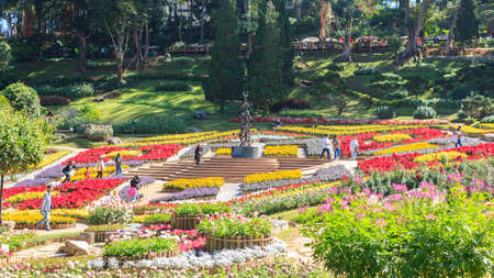 Chiang Rai, Thailand - December 25, 2017 :Doi Tung Royal Villa and Mae Fah Luang Garden, Chiang Rai, Thailand.
