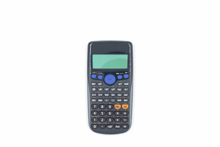 Scientific calculator on the white background.