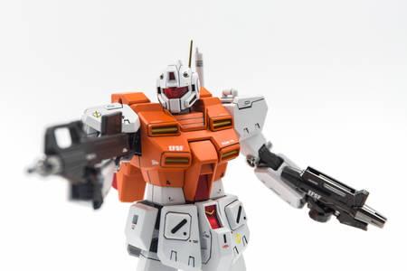 Bangkok, Thailand - September 4, 2017: Gundam scale plastic models on white background.