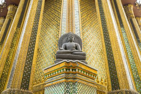 big buddha: Wat Phra Kaew, Temple of the Emerald Buddha, Bangkok, Thailand.