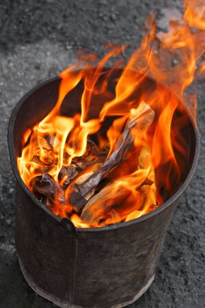 Chinese Joss Paper burning in flames
