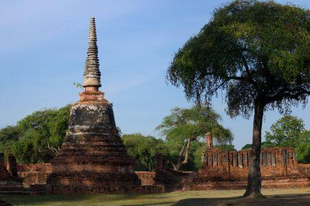 Old pagoda in Wat Phra Sri Sanpetch temple, Ayutthaya, Thailand