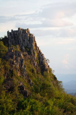 The top of cliff . Doi Samer-Dao in Nan, Thailand.