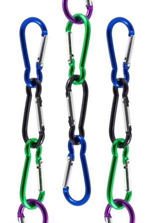 A carabiner is designed to be a strong connecting link used for joining material (ropes, hardware, slings, etc.) together to create life safety systems in a primarily vertical world.