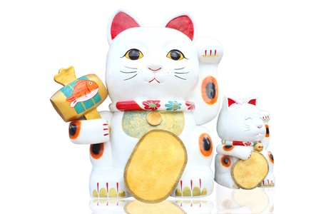 fortune cat: lucky cat is  popular and found generally in japan china and thailand . this sign mean Bring money luck.