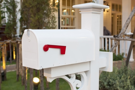 have a mail in your mailbox house  版權商用圖片