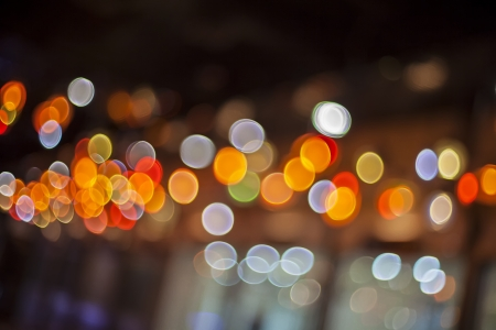 glowing lights background with bokeh