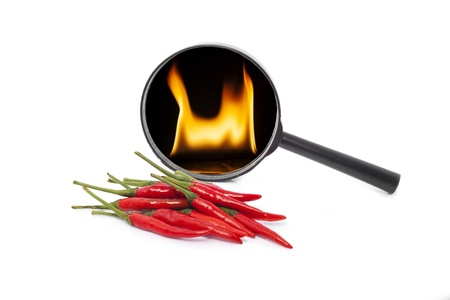 red  chili peppers are very hot Stock Photo - 20163950