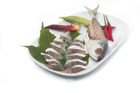 sushi mackerel raw fishes on dish Stock Photo - 20163956