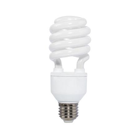 florescent light: Energy saving eco lamp isolate