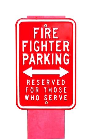 fire label fire fighter parking