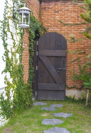 vintage old door  old style Stock Photo