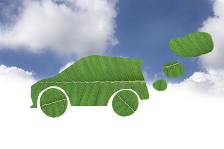 Green car and green power for eco concept