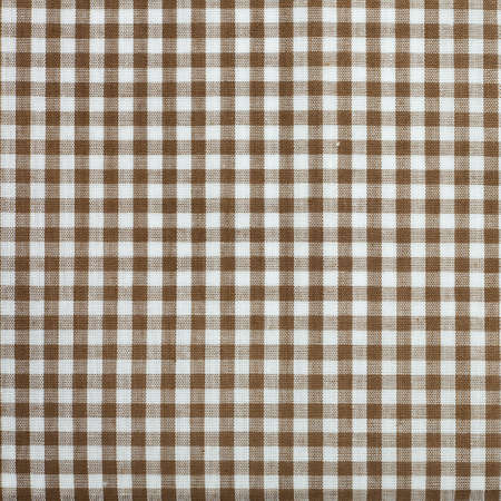 white and brown gingham cloth background with fabric texture Stock Photo - 21601839