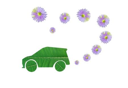 Eco car save a fresh air not a polution