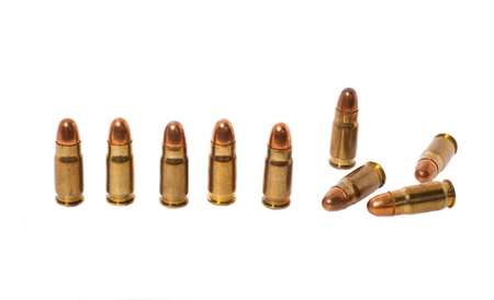 luger: 7 65 MM Parabellum cartridges Stock Photo