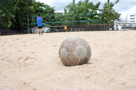 Beach Volleyball and beach football  photo