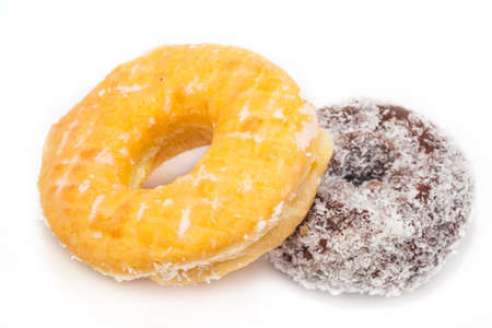 sugary: sugary donut on a white background