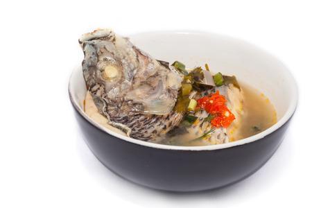 snake head fish: thai cibo per pesci tilapia zuppa piccante Archivio Fotografico