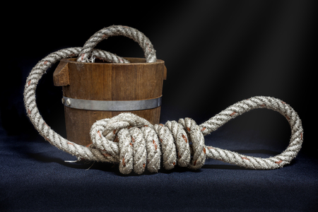 fixed line: Rope And Knot On Isolate