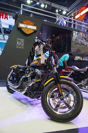 seventy two: BANGKOK - MARCH 26   Harley-Davidson Sporter Seventy Two on display at The 35th Bangkok International Motor Show 2014 on March 26, 2014 in Bangkok, Thailand Editorial