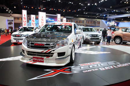 BANGKOK   MARCH 26 : Isuzu Mini Truck Car On Display At The 35th Bangkok  International