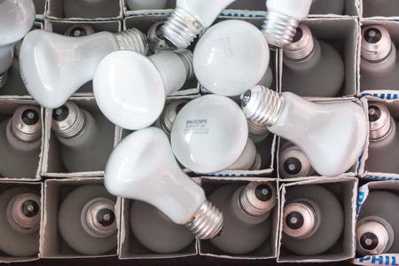 environmen: energy saving light bulb