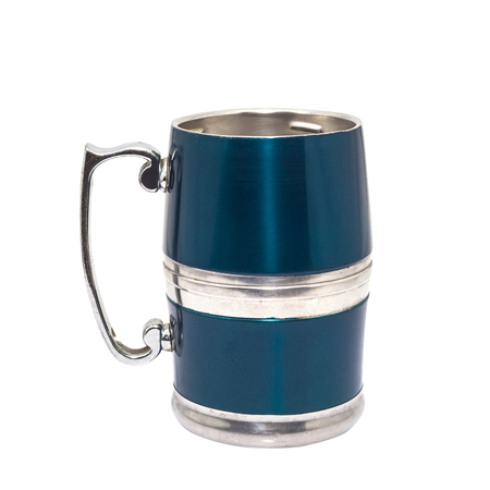 pewter mug: pewter beer mug decorated