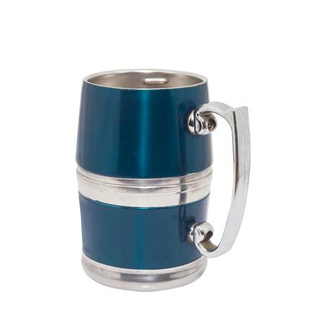 pewter mug: pewter beer mug decorated
