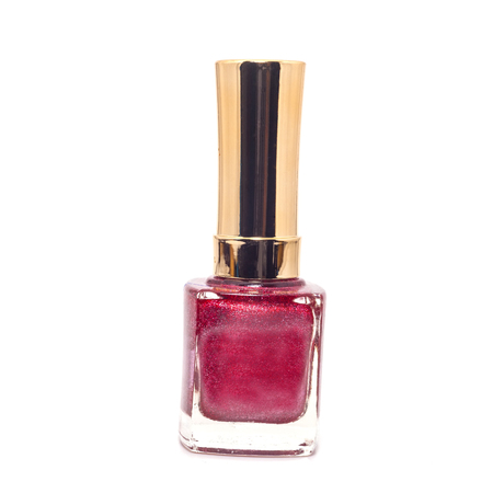 flacon vernis � ongle: ongles bouteille sur fond blanc Banque d'images