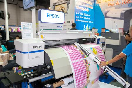 highend: BANGKOK - SEPTEMBER 27 :Epson printer at GASMA PRINT 2014 on Sep 27,2014 in BITEC ,Bangkok, Thailand.
