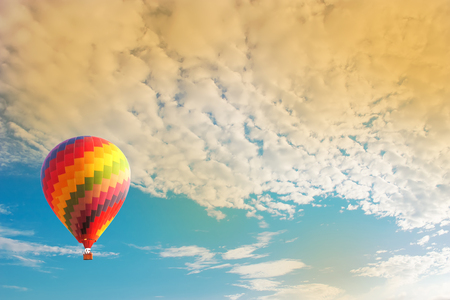 hot spring: Hot air balloon Stock Photo