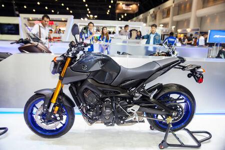 scrambler: NONTHABURI - DESEMBER 4 :YAMAHA FX-09  motorcycle on display at MOTOR EXPO 2014 on  Dec 4,2014 in Nonthaburi, Thailand.
