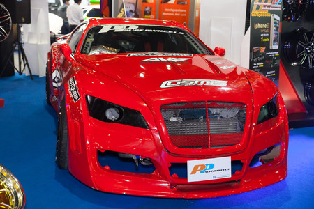 pp: NONTHABURI - DESEMBER 4 :Car modify by PP Superwheel on display at MOTOR EXPO 2014 on Dec 4,2014  in Nonthaburi, Thailand.
