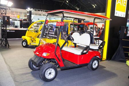 nonthaburi: NONTHABURI - DESEMBER 4 :ATE golf car on  display at MOTOR EXPO 2014 on Dec 4,2014 in  Nonthaburi, Thailand.
