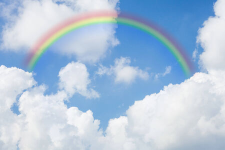 sky with a rainbow background Stock Photo