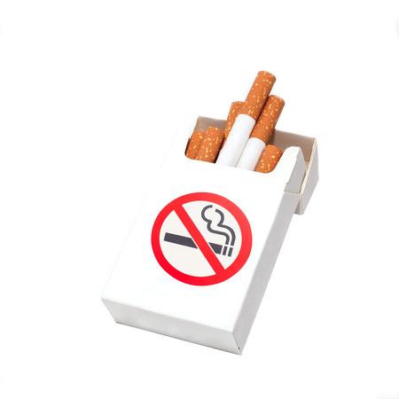 Box of cigarettes, isolated photo