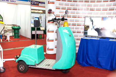 hindrance: BANGKOK ,THAILAND - FEBRUARY 7: Electric scooter at THAILAND Industrial  Fair 2015 And Food Pack Asia 2015 on February 7, 2015 in Bangkok, Thailand. Editorial