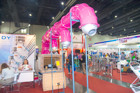 air duct: BANGKOK ,THAILAND - FEBRUARY 7: Air duct  at THAILAND Industrial Fair  2015 And Food Pack Asia 2015 on February 7, 2015 in Bangkok,  Thailand.